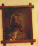 Face in Jesus portrait