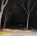 Strange light in the tree