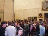 Crowd in front Mona Lisa