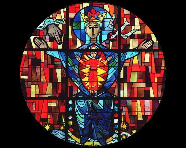 (Salve Window in our Monastic Church)