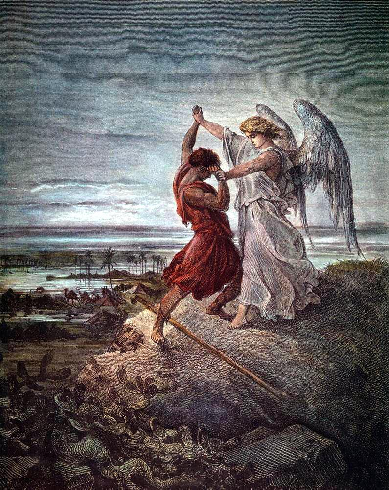 """(""""And Jacob wrestled with God)"""
