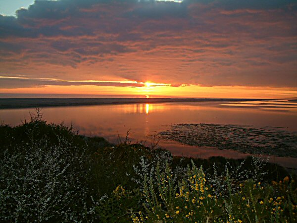 Sunset over Chesil Beach 2