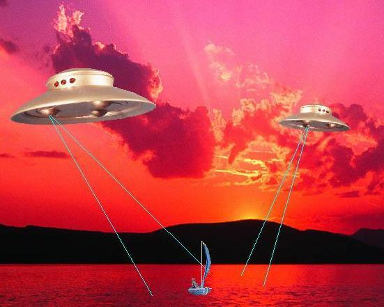 UFO's at Lake, by Sabretooth