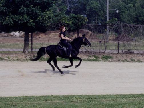 Me & Dane running on the race track