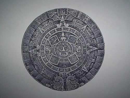 Ancient Aztec calendar replica