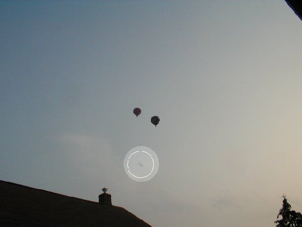 UFO under hot air balloons
