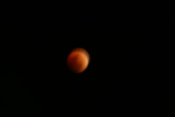 Pictures of the Moon turning to blood during a full lunar eclipse in February 2008