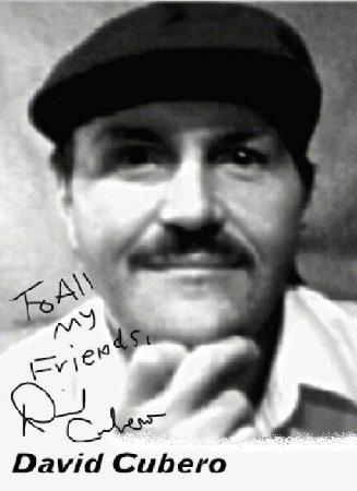 David Cubero's Autographed Pic