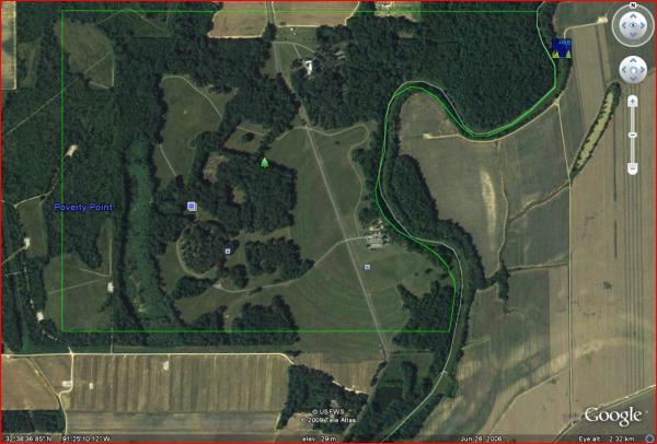 Poverty Point-Google Earth Screen Capture
