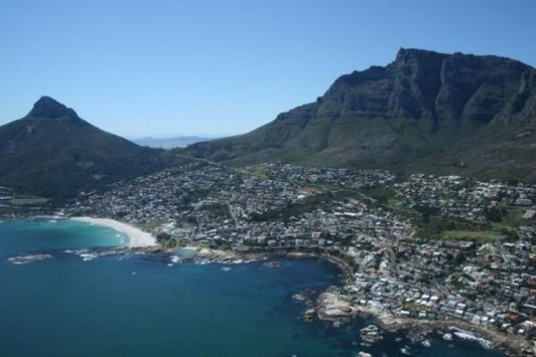 Aerial view of Clifton beach, SA