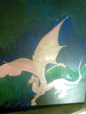 Red russ dragon