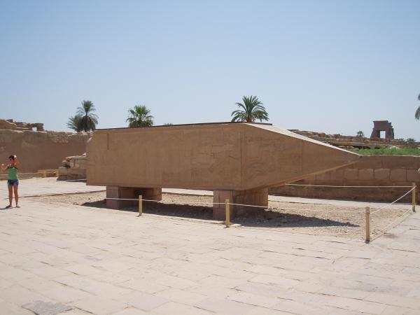 A Fallen obelisk of Hatshepsut