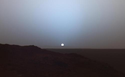 Sunset from the surface of Mars