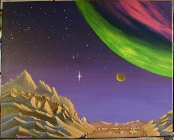 Alien Moon Base