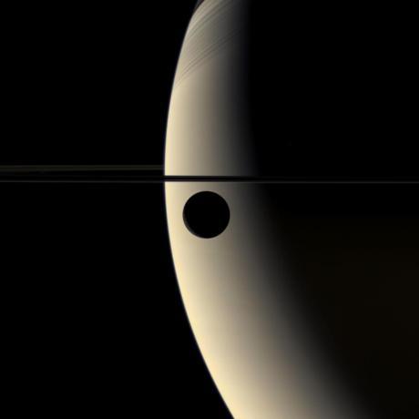 Crescent Rhea Occults Crescent Saturn