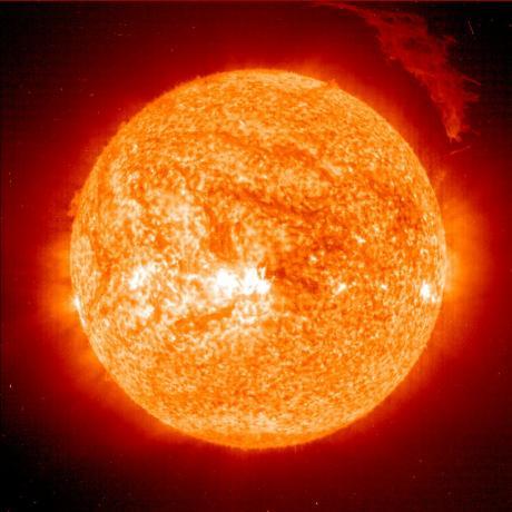 SOHO sees eruptive prominence