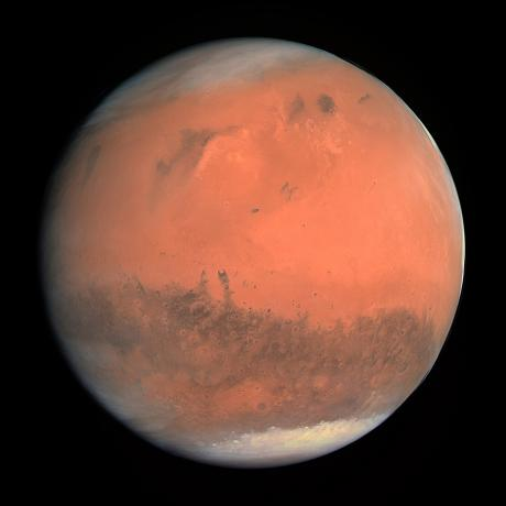 True-colour image of Mars seen by Rosetta