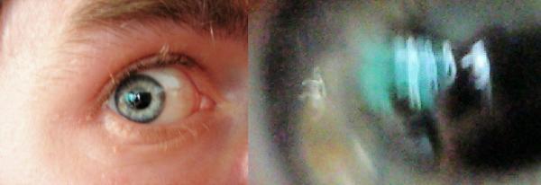 Strange Eye Reflection