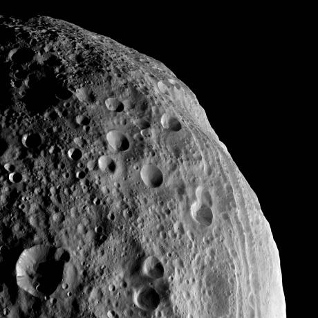 Up and Down in Vesta's Cratered Terrain