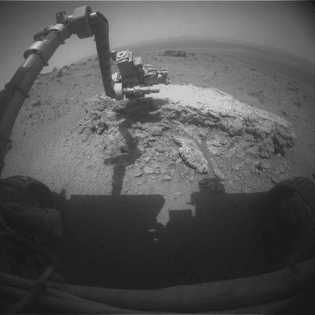Opportunity at Work Examining 'Tisdale 2,' Sol 2695