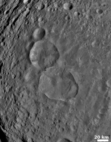 Vesta - Two Large Young Craters