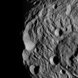 Vesta - South Polar Scarp