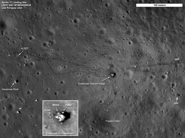 LRO: Latest Images of Apollo Landing Sites - Apollo 17