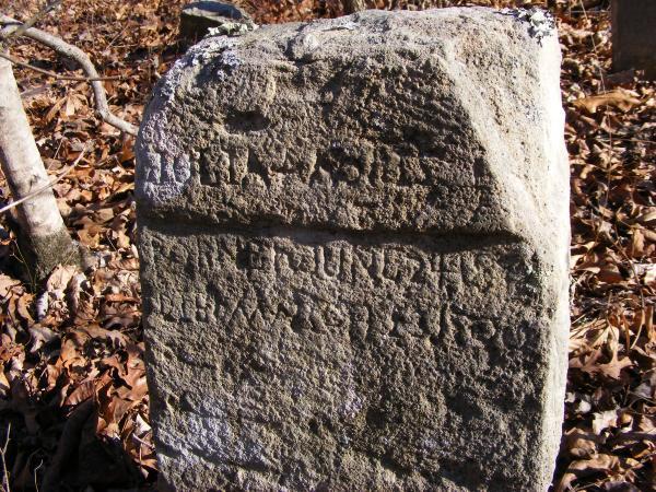 Headstone in Old Grave Yard