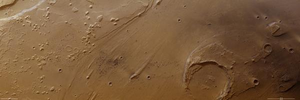 Mars Express observes clusters of recent craters in Ares Vallis