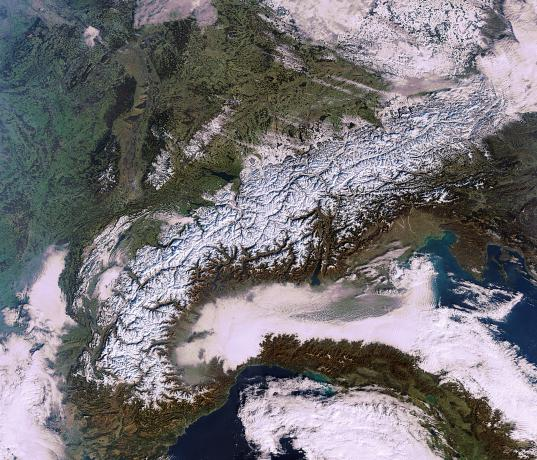 Earth from Space: Mountains of snow