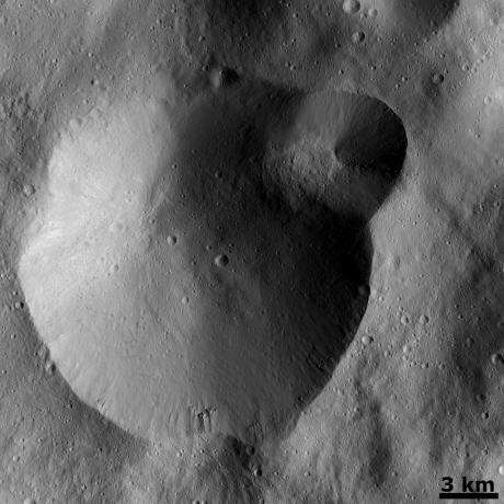 Vesta - Successive formation of impact craters