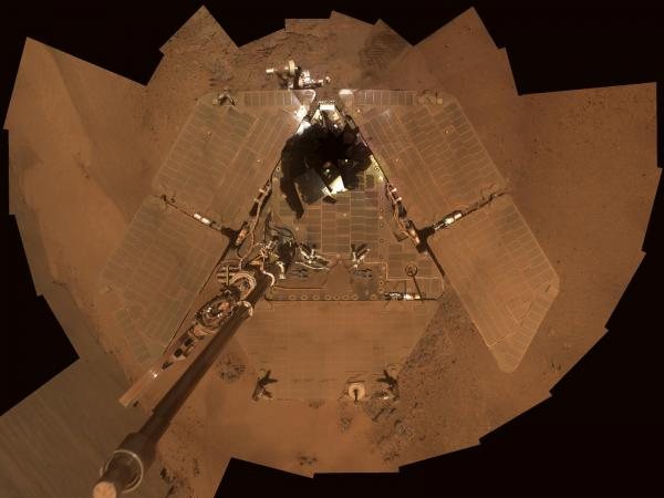 Dusty Mars Rover's Self-Portrait
