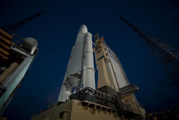Ariane 5 flight VA205 and ATV Edoardo Amaldi ready for launch