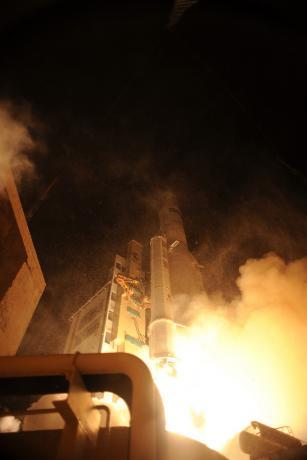 Liftoff of Ariane 5 VA205 with ATV-3