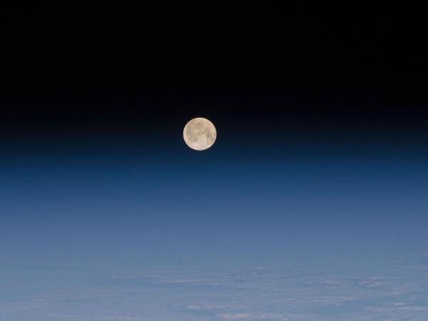 Moon and Earth's Atmosphere