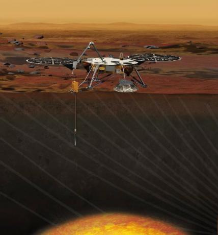 InSight, a Proposed Mars MIssion (Artist Concept)