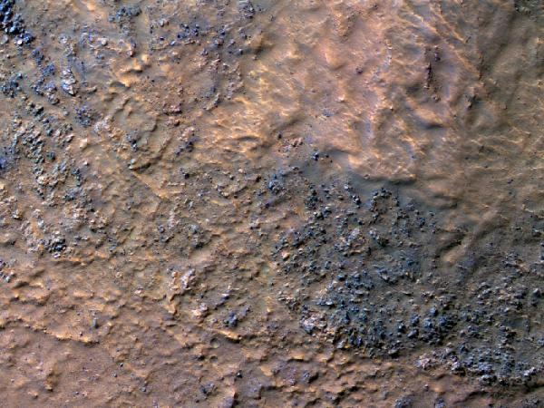 Mars Reconnaissance Orbiter - Boulders on the Floor of Hellas Basin