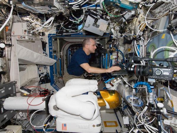 International Space Station - Don Pettit and Robonaut 2
