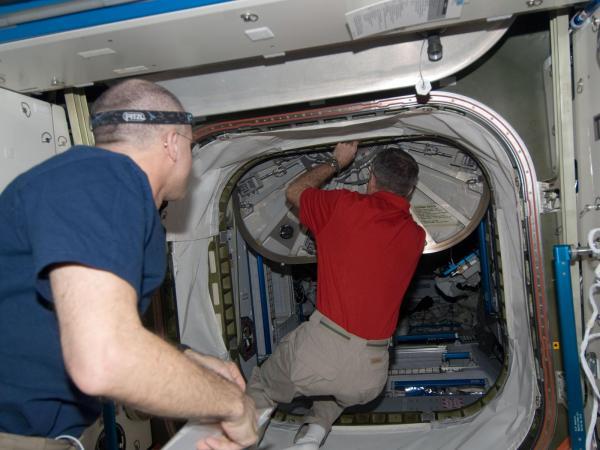 International Space Station - Preparing to Take Shelter