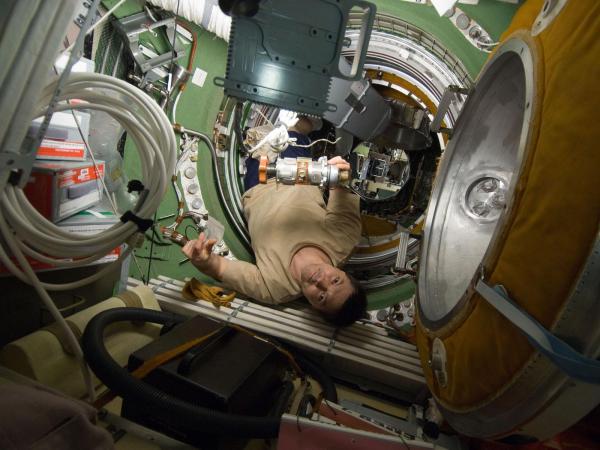 International Space Station - Cosmonaut Kononenko in Transfer Compartment