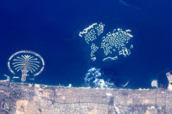International Space Station - The Palm and The World Islands, Dubai