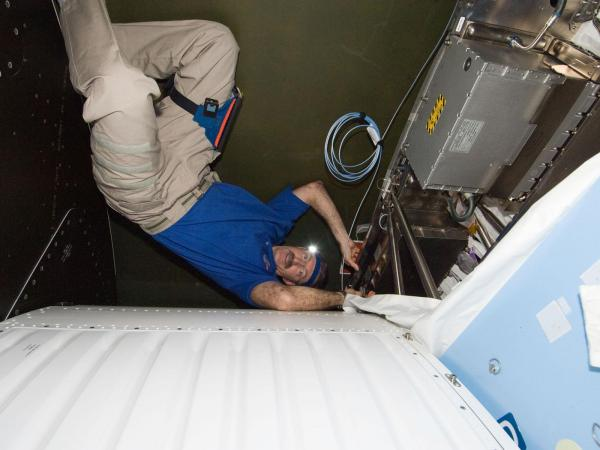 International Space Station - Commander Dan Burbank Conducts Maintenance