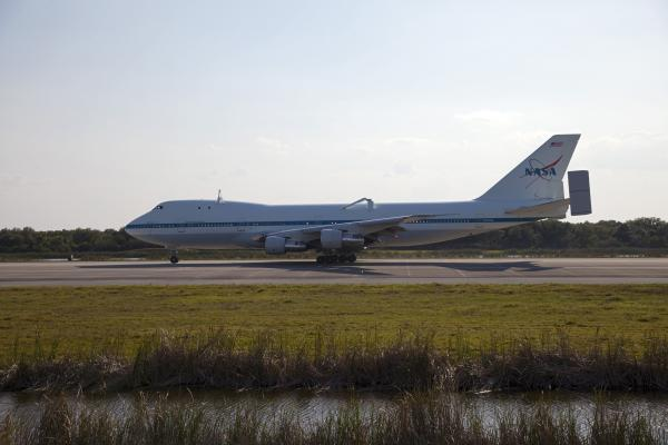 Shuttle Carrier Aircraft Arrives at Kennedy