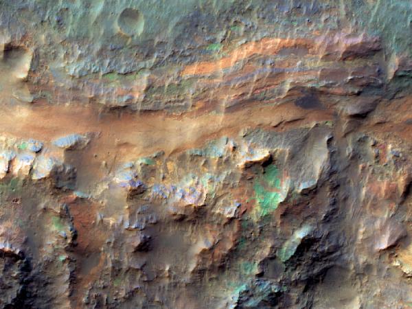 Mars Reconnaissance Orbiter - Sedimentary Deposits on the Floor of Ritchey Crater