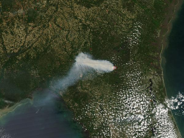 County Line Fire, northern Florida