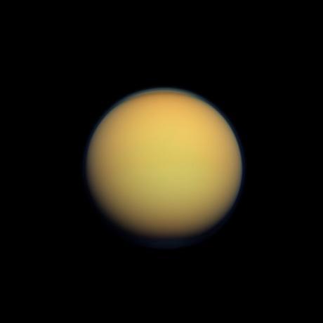 Cassini - Hazy Orange Orb