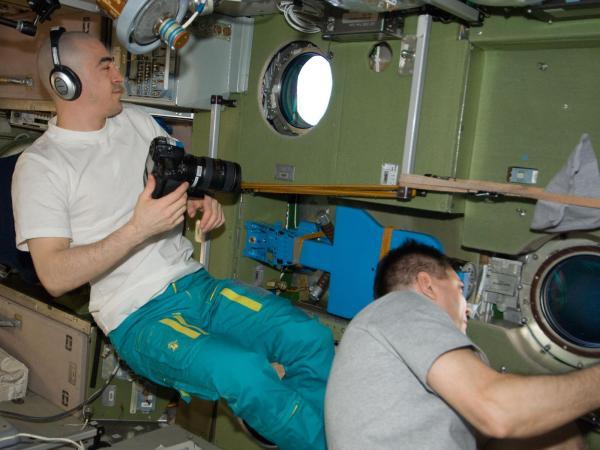 International Space Station - Anatoly Ivanishin and Oleg Kononenko
