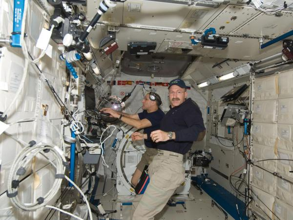 International Space Station - Dan Burbank and Don Pettit