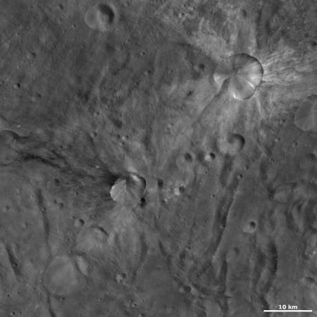 Vesta - Canuleia and Sossia craters