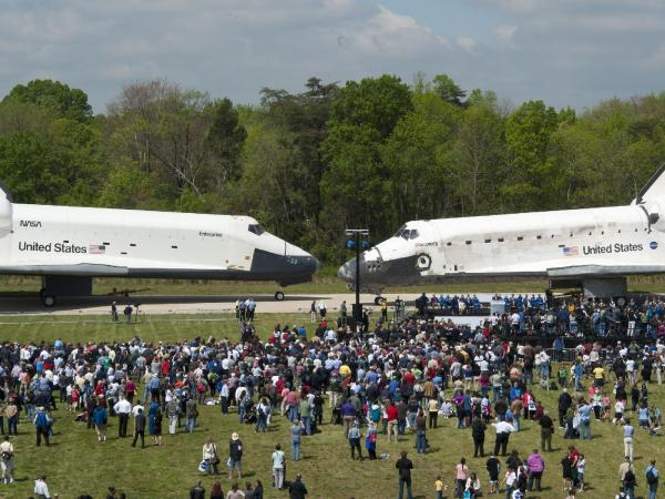 Discovery's Last Voyage - Space Shuttle Discovery Arrives at Udvar-Hazy